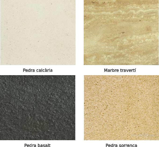 Piedras naturales utilizadas como revestimiento en una fachada ventilada